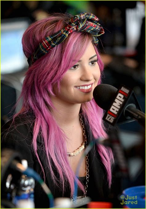 Demi Lovato Pre Grammy Interviews With Pink Hair Photo