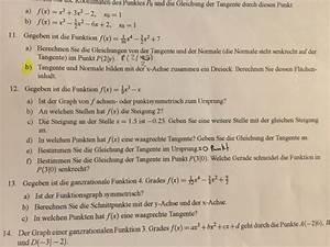 Steigung Einer Quadratischen Funktion Berechnen : tangente funktion einer waagrechte tangente bei einer funktion 3ten grades berechnen ganze ~ Themetempest.com Abrechnung