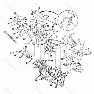 Polaris Atv 1992 Oem Parts Diagram For Body Assembly Trail