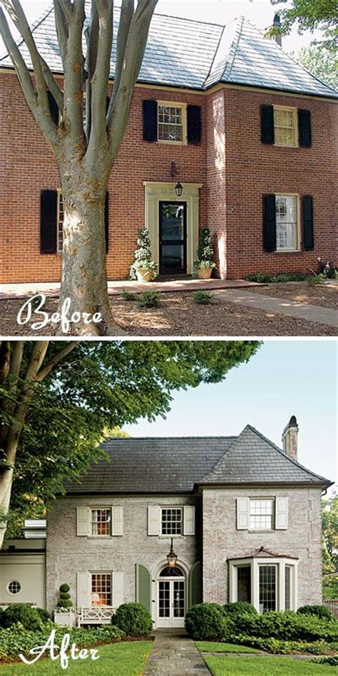 25 best ideas about brick exterior makeover painting brick rustic shutters and