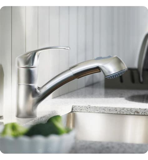 grohe alira kitchen faucet grohe 32999000 alira 7 3 8 quot one handle deck mounted kitchen faucet with 2 function locking