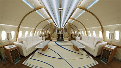 Interior Aircraft Design by Inside Luxury Jets With Custom Made Interiors