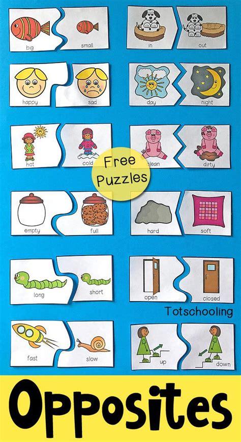 preschool worksheets opposites preschool printable
