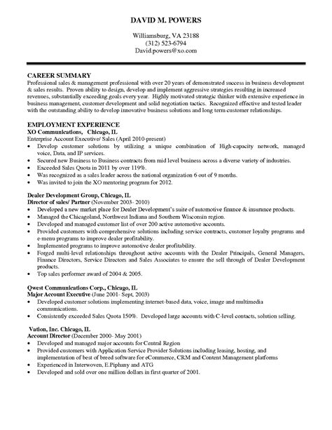 Resume Executive Summary Exle by Professional Executive Summary Psycho Chybernetics Tk