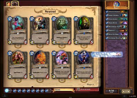 hearthstone deck list addon screenshot image hearthstone heroes of warcraft mod db