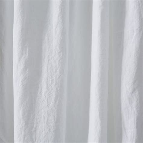 belgian flax linen curtain white west elm