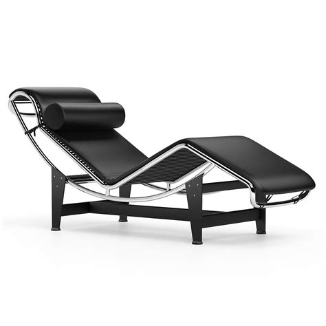 Chaise Longue Le Corbusier Lc4 Chaise Longue Black