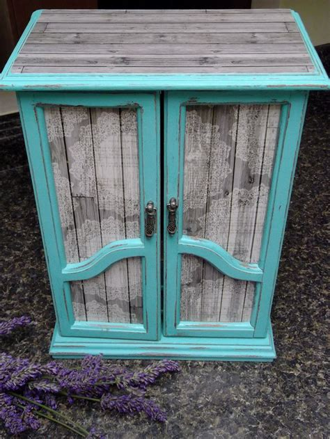 shabby chicfrench armoire dresser jewelry box farmhouse