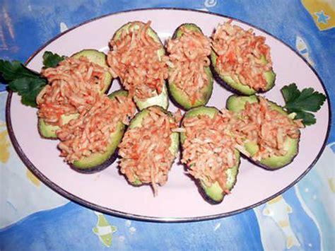 cuisine avocat recette d 39 avocats surimi aux crabes