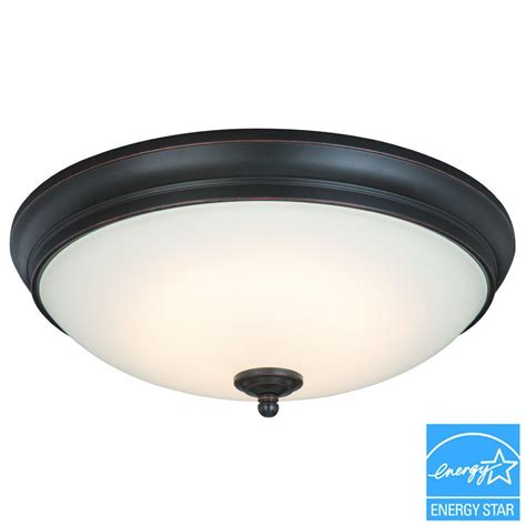 commercial ceiling light covers commercial electric 13 in 60 watt equivalent oil rubbed