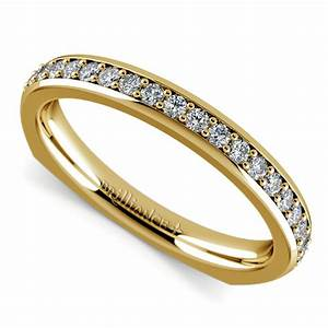 rocker european diamond wedding ring in yellow gold With european wedding rings