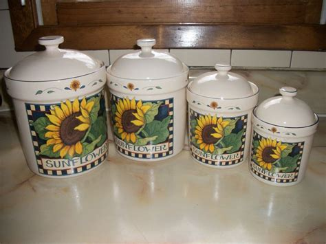 Sunflower Canister Sets Kitchen by Susan Winget Sunflower Canisters My Kitchen Remodel