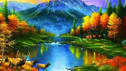 Fall Desktop Autumn Mountains Trees Leaves Colors