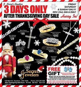 AFTER THANKSGIVING SALE SAMPLE ADVERTISEMENT – Jewelry Secrets