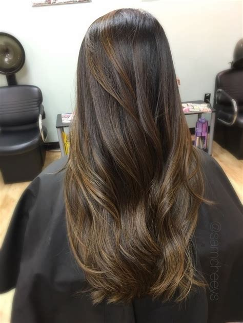 caramel honey ombre  asian ethnic hair types brown