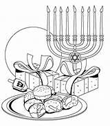 Hanukkah Pages Printable Coloring Happy Chanukah Symbols Pre Chanuka sketch template