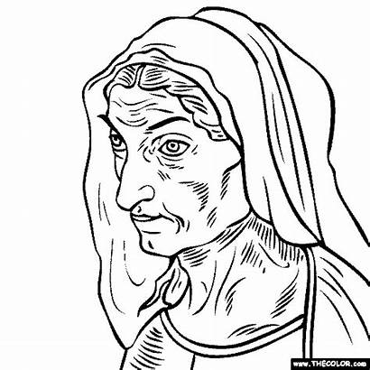 Coloring Pages Durer Painting Mother Artists Famous