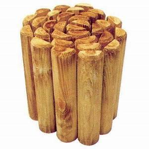 Coupe Bordure Brico Depot : bordure demi rondin bois stelmet 200 x cm castorama ~ Dailycaller-alerts.com Idées de Décoration