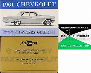 1961 Chevrolet Car Repair Shop Manual Reprint