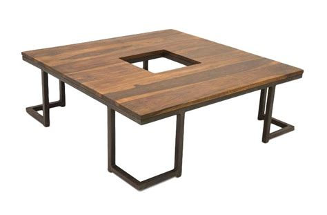 table bois industriel table basse industrielle sasque
