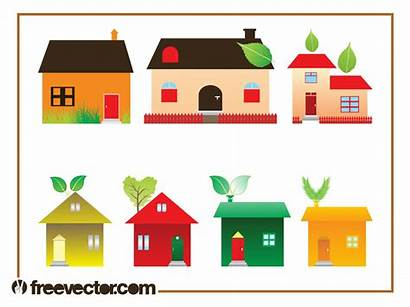 Graphics Eco Icons Vectors Houses Graphic Buildings