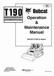 Bobcat T190 S  N 531711001 Operating Instructions