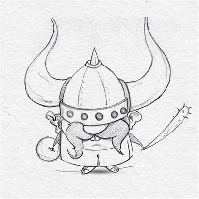 Viking Drawing Sketch Vikings Giphy Behance Characters