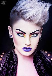 Drama Dramatic 80s over the top makeup with hard fierce ...