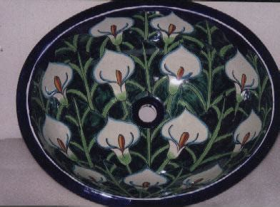 pictures for mexican talavera tile sink los angeles in