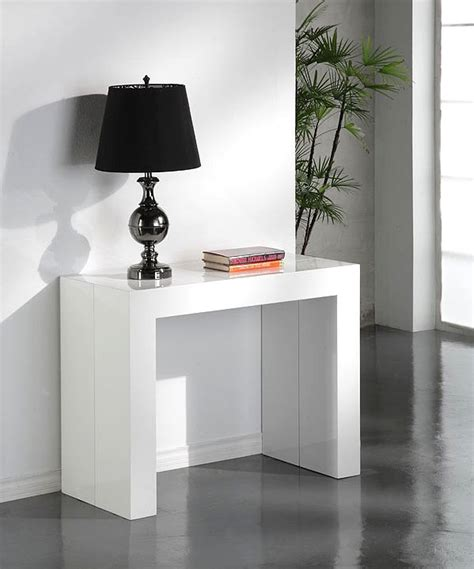 table console extensible glossy blanc laquee table console topkoo