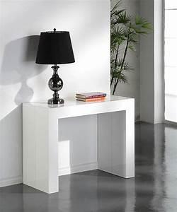 table console extensible glossy blanc laquee table With table basse de jardin en plastique 6 chaise de bar blanc presto tabouret de bar topkoo