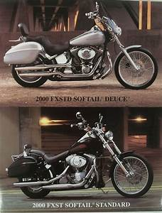 Harley Accessory Sheet 2000 Fxstd Softail Deuce Fxst