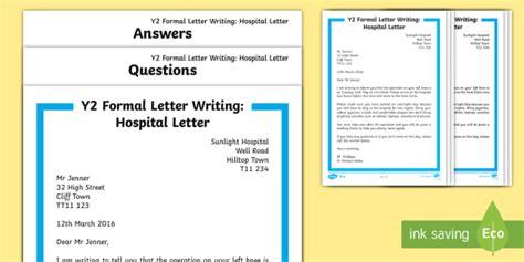 ks formal hospital letter differentiated reading