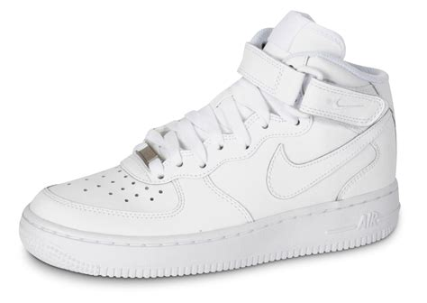 Nike Air Force 1 J Mid Triple Blanc