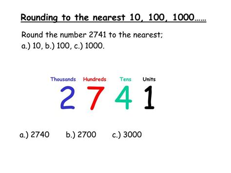 Ppt  Rounding To The Nearest 10, 100, 1000…… Powerpoint Presentation Id5660122