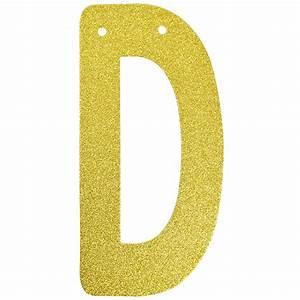 glitter letter banner garland 6inch gold letter d With gold letter garland