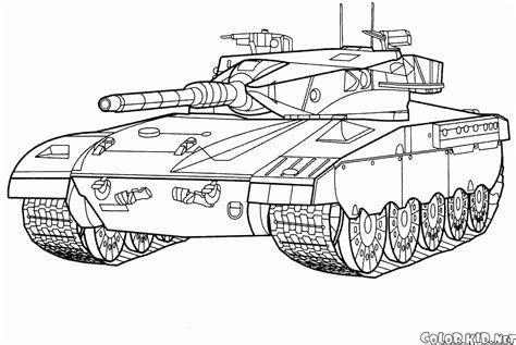 coloring page battle tank israel