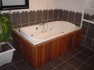 Habillage Baignoire Bois : habillage baignoire aj agencement est une menuiserie ~ Premium-room.com Idées de Décoration
