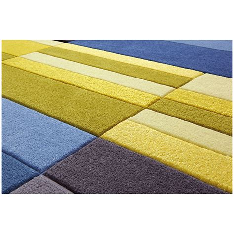 tapis jaune et noir tapis split bleu et jaune esprit home 70x140