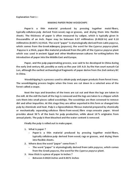 Karena masih satu genre, maka soal yang muncul juga akan memiliki kesamaan. Contoh Soal dan pembahasan Explanation Text | Pulp (Paper ...