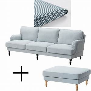 IKEA Stocksund 3 5 Seat Sofa and Footstool Ottoman
