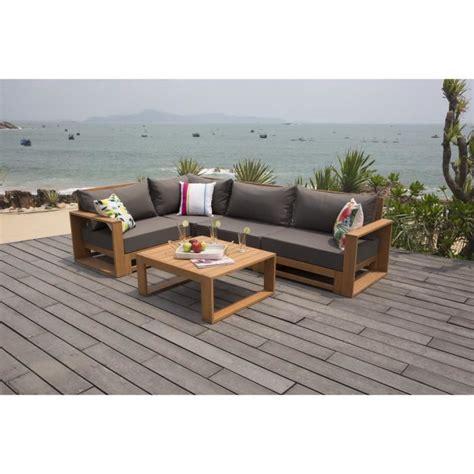 canape exterieur bois salon de jardin en bois achat vente salon de jardin en