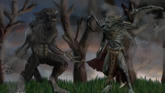 Skyrim Vampire Lord vs Werewolf