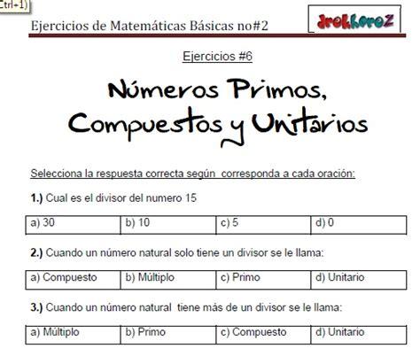 Ejercicios De Matemáticas Básicas No2vol1 Cibertareas