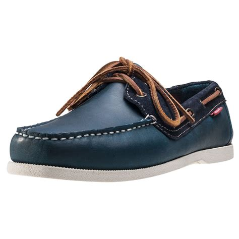 Boat Shoes Navy Blue by Chatham Galley Deck Mens Boat Shoes In Navy Blue