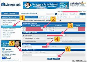How To Transfer Money Thru Metrobank Online Banking