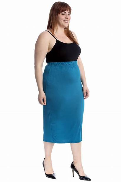 Pencil Skirt Skirts Office Stretch Bodycon Ladies