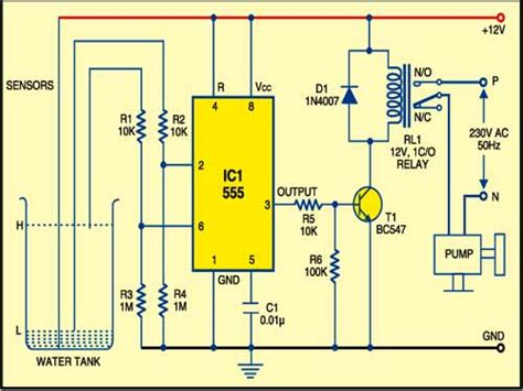 Timer Based Water Level Controller Free Electronics