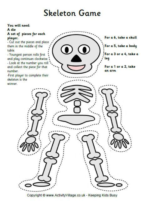 crafts actvities and worksheets for preschool toddler and 680 | printable skeleton pattern coloring 2