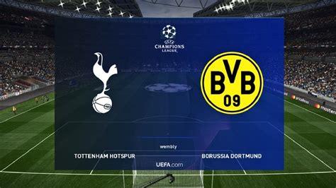 Pes 2019 Tottenham Vs Dortmund Prediction Uefa Champions